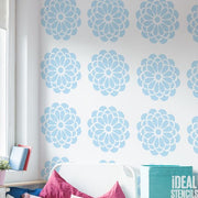 Bold Bloom Floral Wall Stencil