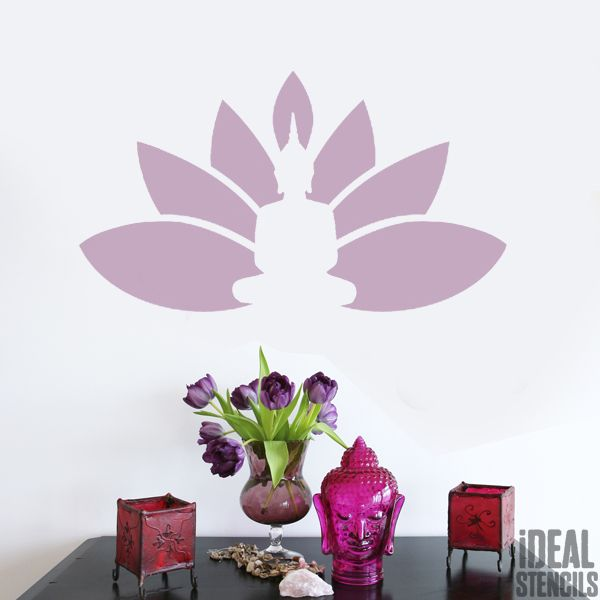 Buddha Lotus Decor Stencil