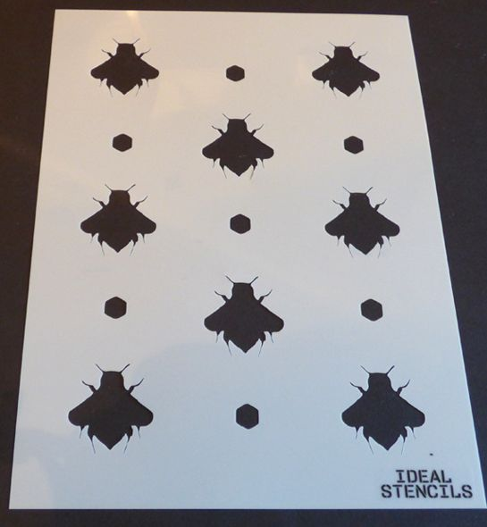 Bumble Bee Pattern Stencil