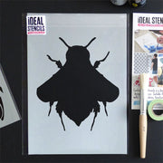 Bumble bee silhouette stencil