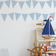Bunting flags decor stencil