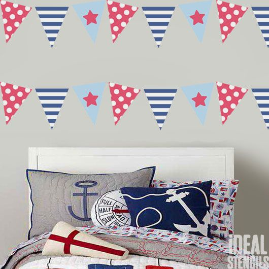 Bunting Flags Nautical Seaside Stencils