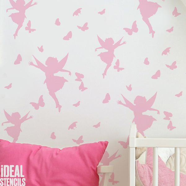 Butterfly & Fairy Wall Stencil