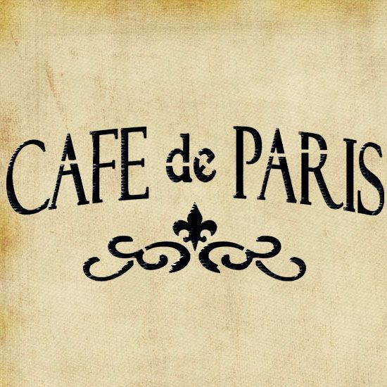 Cafe de Paris Stencil