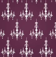 Chandelier Wall Decor Stencil