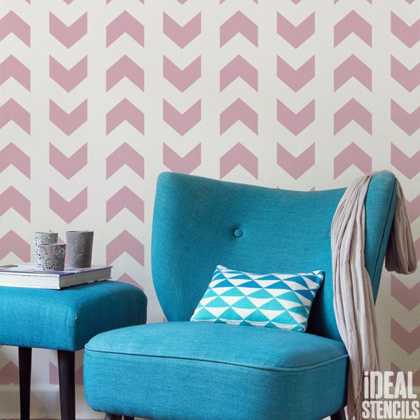 Chevron arrow  pattern stencil