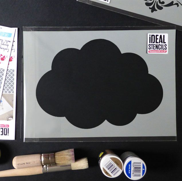 Cloud shape wall stencil