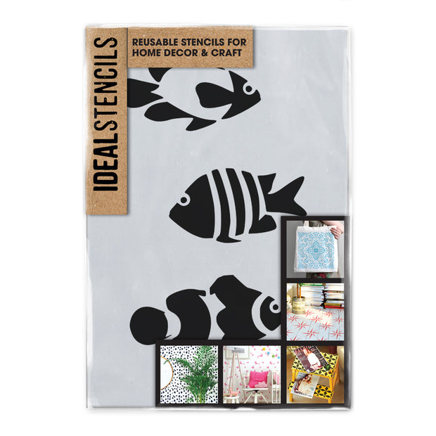 Clownfish Tropical Fish Stencil