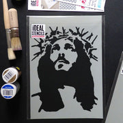 Crown of Thorns Jesus Stencil
