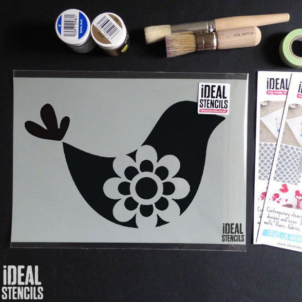 Cute Bird Nursery Stencil