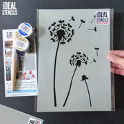 Dandelion decor stencil