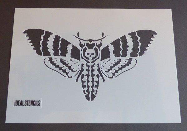 Death Head Hawk Moth Stencil