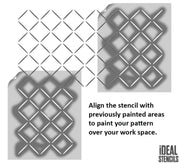 Diamond lattice Pattern Stencil