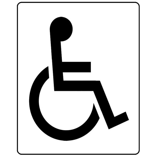 disabled car parking stencil