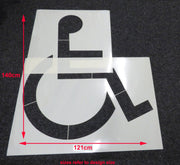 disabled car park marking stencil 1.4 x 1.21 meters