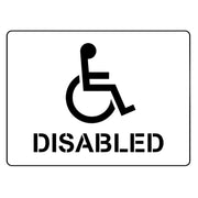 disabled sign parking stencil