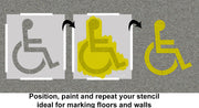 disabled car parking marking stencil