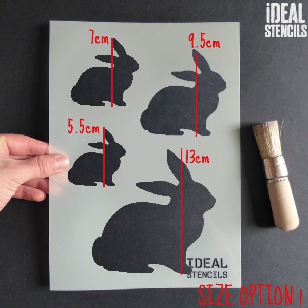 Easter Bunny Rabbit Stencil