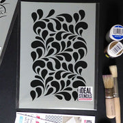Fern leaf  pattern stencil