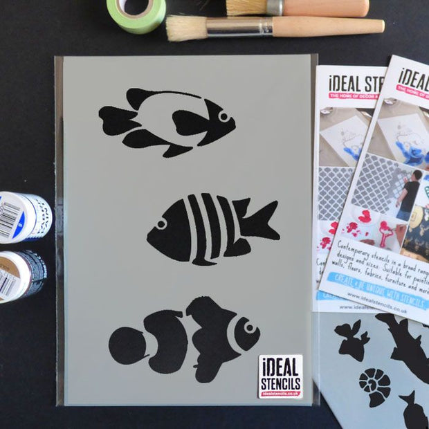 Tropical Fish/Clownfish Stencil