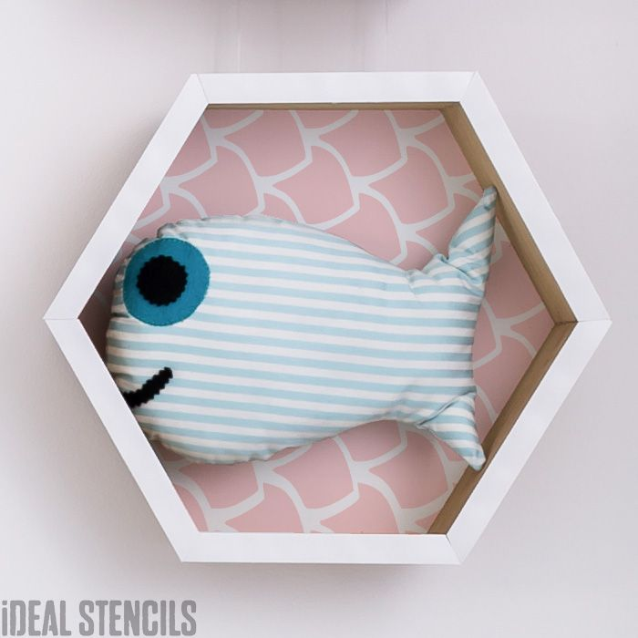 Fish Scales Pattern Stencil