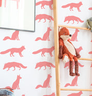 Fox Pattern Decor Stencil