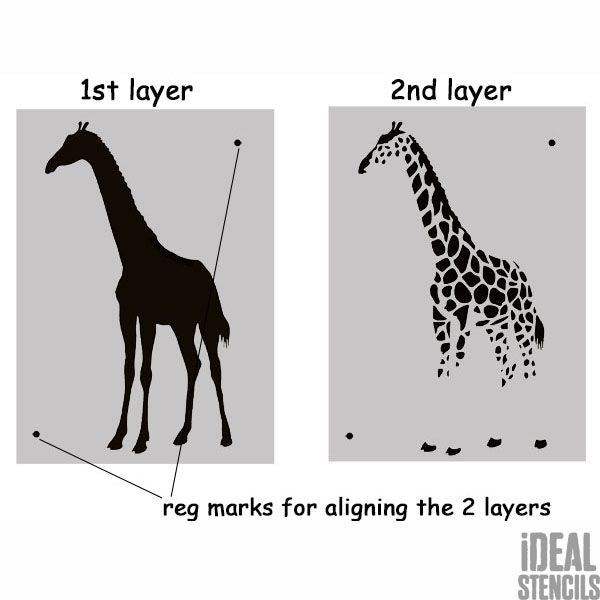 Giraffe 2 layer stencil