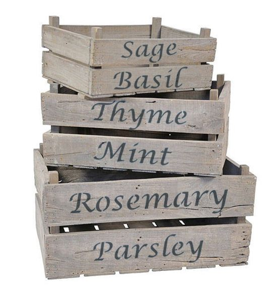 Herb names stencil set