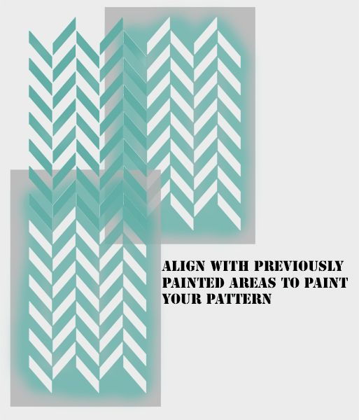 Herringbone pattern craft stencil
