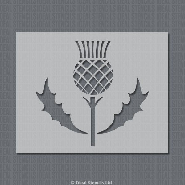 Highland Thistle Motif Decor Stencil