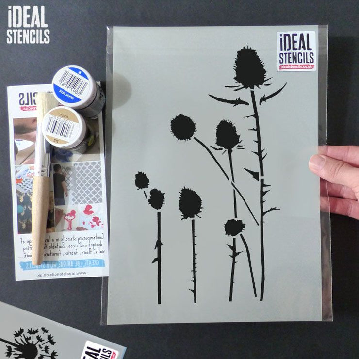 Highland Thistle wall decor stencil