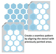 Honeycomb Pattern Stencil