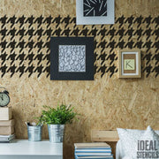Hounds tooth pattern Stencil