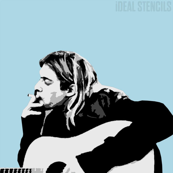 Kurt Cobain Multilayer Stencil