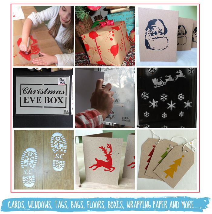 Let is Snow Christmas theme Stencil