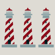 Lighthouse nautical seaside stencil