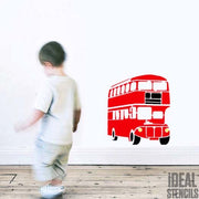 London Red Bus Stencil