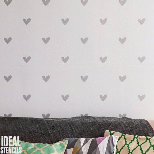 Love heart pattern stencil