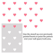 Love Heart Repeat Pattern Stencil