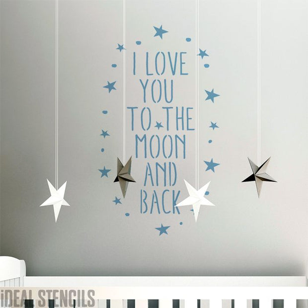 Love you to the Moon & Back Stencil
