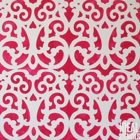 Moroccan Marrakech lattice pattern stencil