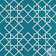 Moroccan Tile Repeat Stencil