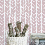 Natural Knit Pattern Stencil