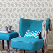 Paisley Pattern Decor Stencil
