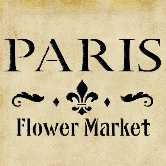 Paris Flower Market Stencil