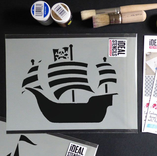 Pirate Ship Stencil