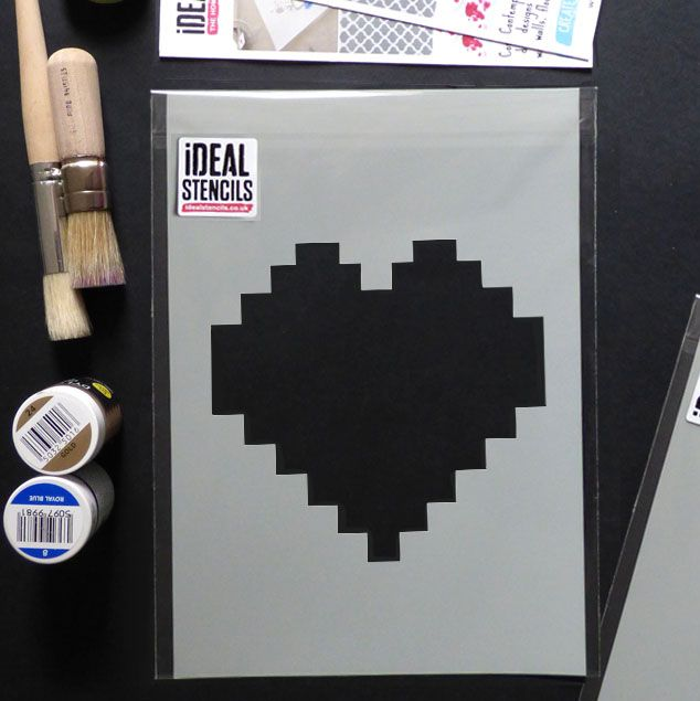 Pixelated Heart Stencil