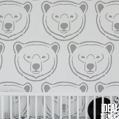 Polar Bear Nursery Stencil