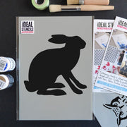 Rabbit Hare Stencil