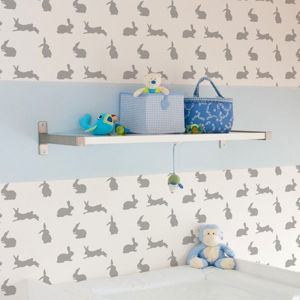 Rabbit Nursery Pattern Stencil